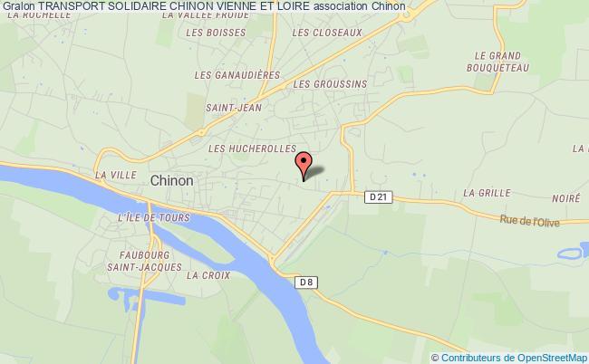 plan association Transport Solidaire Chinon Vienne Et Loire Chinon