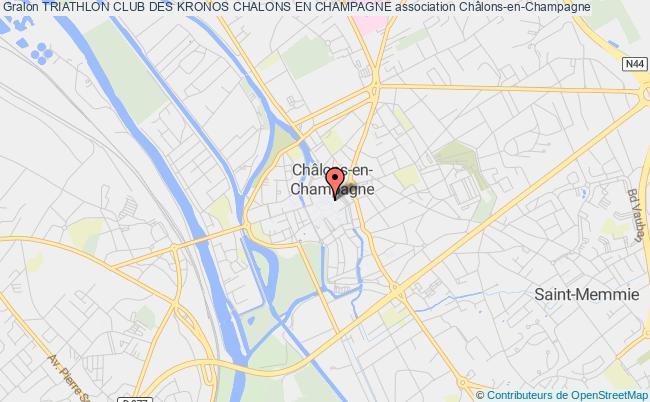 plan association Triathlon Club Des Kronos Chalons En Champagne