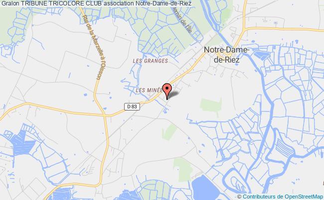 plan association Tribune Tricolore Club Notre-Dame-de-Riez
