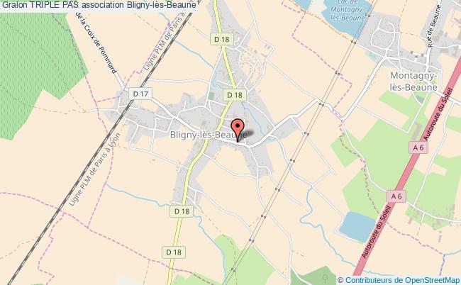 plan association Triple Pas Bligny-lès-Beaune