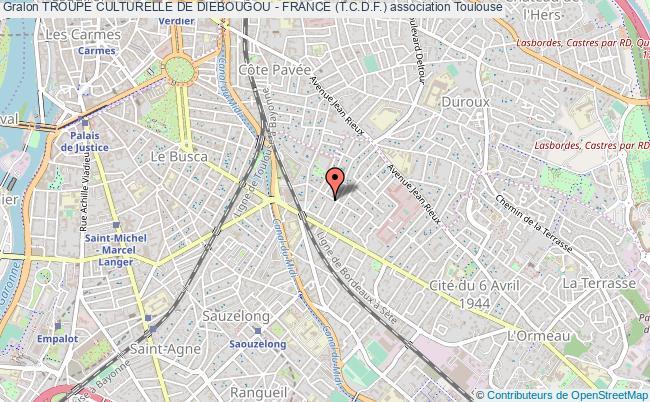plan association Troupe Culturelle De Diebougou - France (t.c.d.f.)