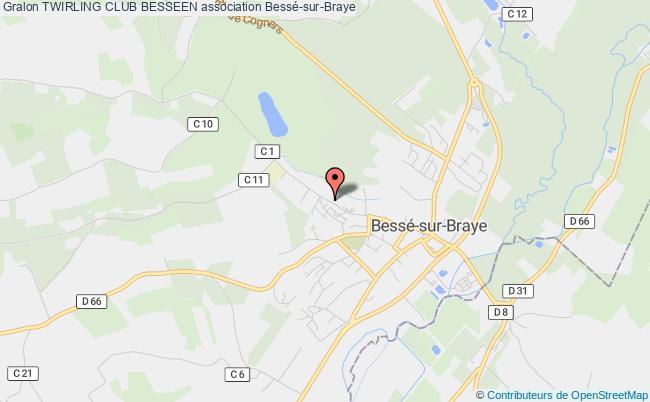 plan association Twirling Club Besseen Bessé-sur-Braye
