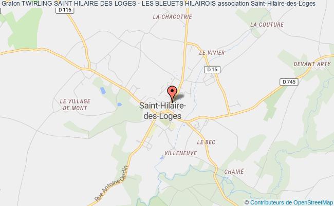 plan association Twirling Saint Hilaire Des Loges - Les Bleuets Hilairois