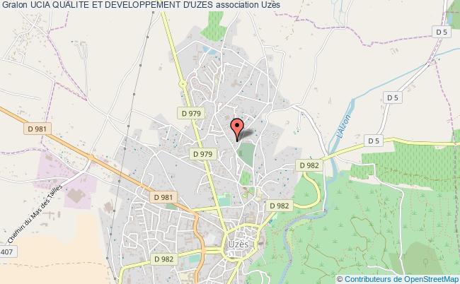plan association Ucia Qualite Et Developpement D'uzes Uzès