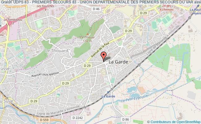 plan association Udps 83 - Premiers Secours 83 - Union Departemenatale Des Premiers Secours Du Var La    Garde