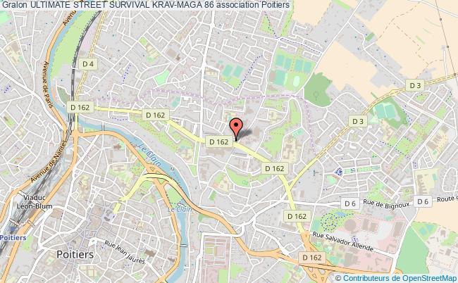 plan association Ultimate Street Survival Krav-maga 86 Poitiers