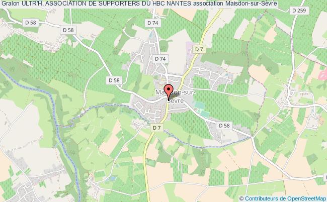 plan association Ultr'h, Association De Supporters Du Hbc Nantes Maisdon-sur-Sèvre