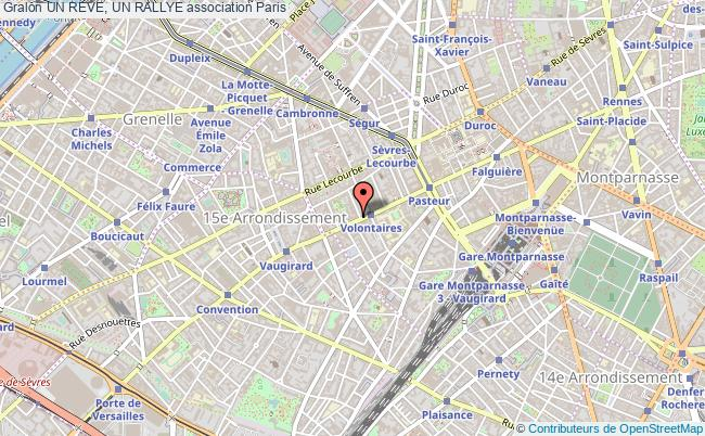 plan association Un Reve, Un Rallye Paris