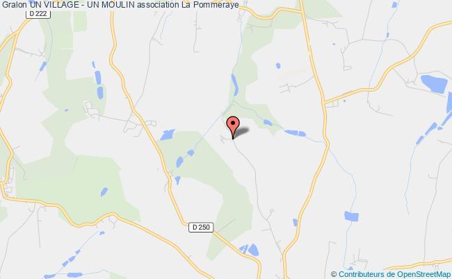 plan association Un Village - Un Moulin La    Chapelle-Saint-Florent