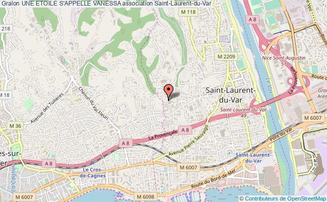 plan association Une Etoile S'appelle Vanessa Saint-Laurent-du-Var