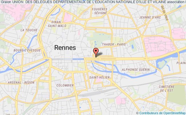 plan association Union  Des DÉlÉguÉs DÉpartementaux De L'Éducation Nationale D'ille Et Vilaine