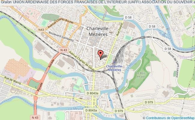 plan association Union Ardennaise Des Forces Francaises De L'interieur (uaffi) Association Du Souvenir