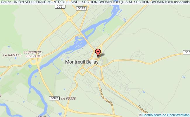 plan association Union Athletique Montreuillaise - Section Badminton (u.a.m. Section Badminton) Montreuil-Bellay