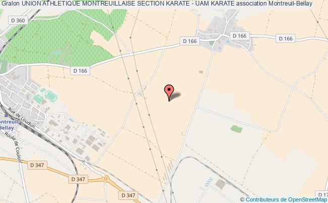 plan association Union Athletique Montreuillaise Section Karate - Uam Karate Montreuil-Bellay
