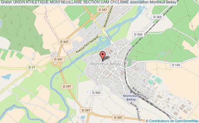 plan association Union Athletique Montreuillaise Section Uam Cyclisme Montreuil-Bellay