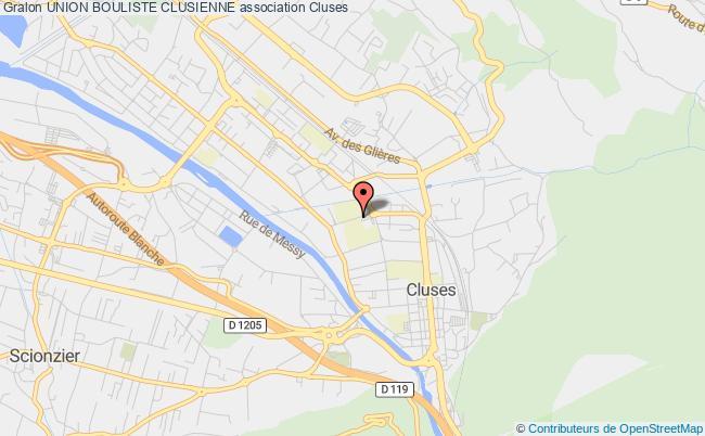 plan association Union Bouliste Clusienne