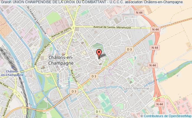 plan association Union Champenoise De La Croix Du Combattant - U.c.c.c.