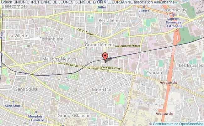 plan association Union Chretienne De Jeunes Gens De Lyon Villeurbanne