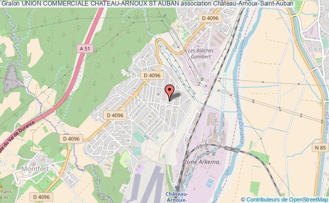 plan association Union Commerciale Chateau-arnoux St Auban