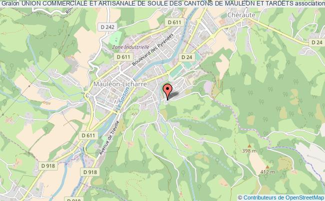 plan association Union Commerciale Et Artisanale De Soule Des Cantons De Mauleon Et Tardets