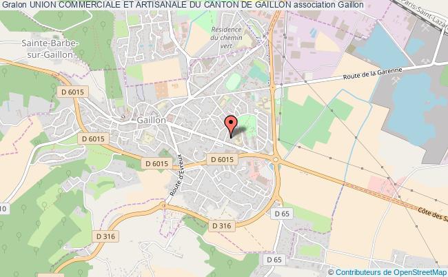 plan association Union Commerciale Et Artisanale Du Canton De Gaillon