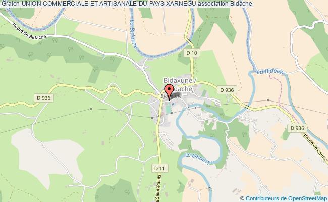 plan association Union Commerciale Et Artisanale Du Pays Xarnegu Bidache