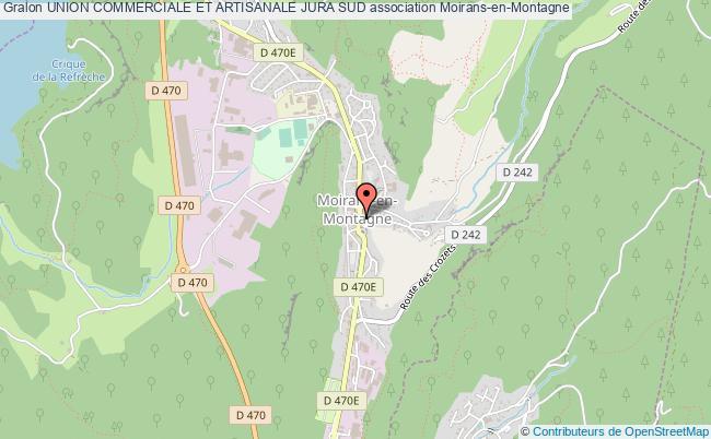 plan association Union Commerciale Et Artisanale Jura Sud