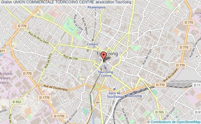 plan association Union Commerciale Tourcoing Centre Tourcoing