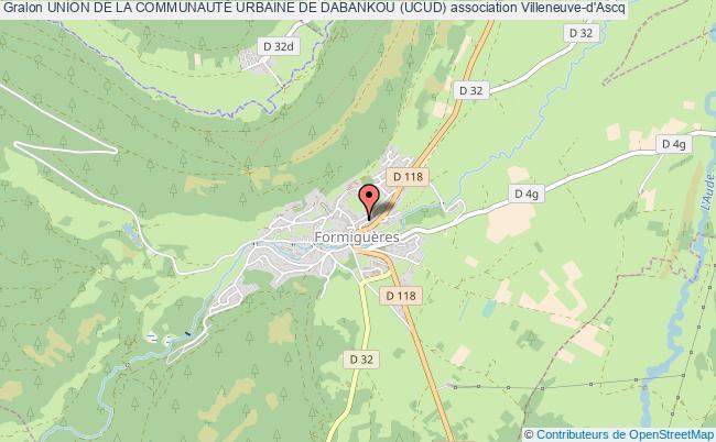 plan association Union De La CommunautÉ Urbaine De Dabankou (ucud) Villeneuve-d'Ascq