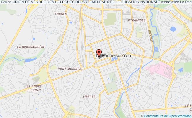 plan association Union De Vendee Des Delegues Departementaux De L'education Nationale La    Roche-sur-Yon