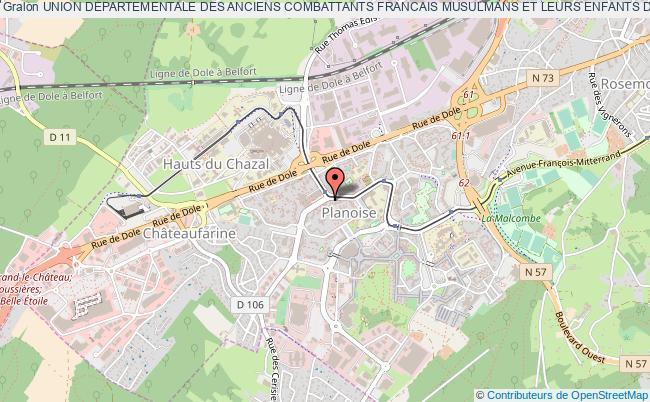 plan association Union Departementale Des Anciens Combattants Francais Musulmans Et Leurs Enfants Du Departement Du Doubs (u.d.a.c.f.m.e.)