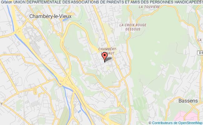 plan association Union Departementale Des Associations De Parents Et Amis Des Personnes Handicapees Mentales De Savoie