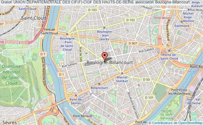 plan association Union Departementale Des Cif(f)-cidf Des Hauts-de-seine