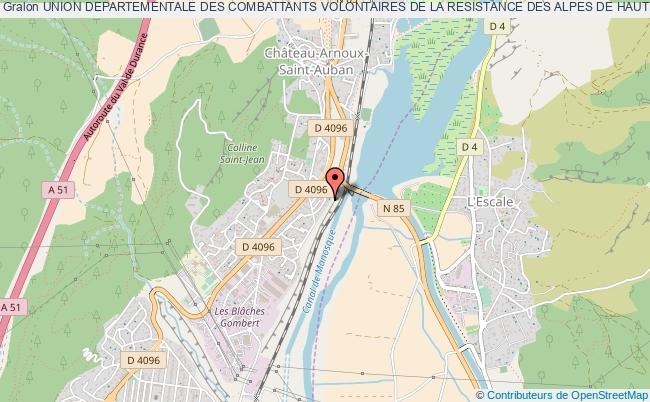 plan association Union Departementale Des Combattants Volontaires De La Resistance Des Alpes De Haute Provence (u.d.c.v.r.)