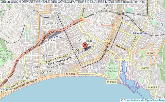 plan association Union Departementale Des Consommateurs Des Alpes Maritimes Nice