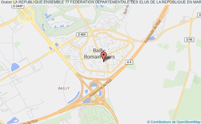 plan association Union Departementale Des Elus La Republique En Marche Et Progressistes Bailly-Romainvilliers