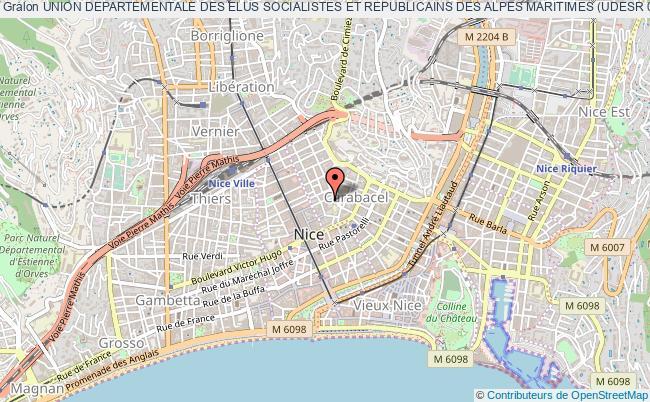 plan association Union Departementale Des Elus Socialistes Et Republicains Des Alpes Maritimes (udesr 06)