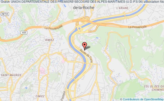 plan association Union Departementale Des Premiers Secours Des Alpes-maritimes (u.d.p.s 06)