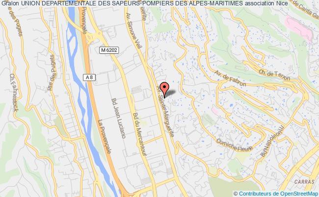 plan association Union Departementale Des Sapeurs-pompiers Des Alpes-maritimes