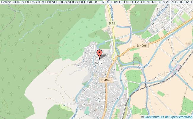 plan association Union Departementale Des Sous-officiers En Retraite Du Departement Des Alpes De Haute Provence Et Des Hautes Alpes