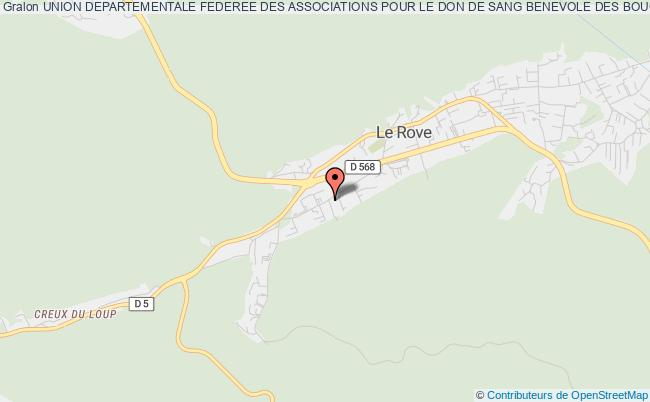 plan association Union Departementale Federee Des Associations Pour Le Don De Sang Benevole Des Bouches Du Rhone Le    Rove