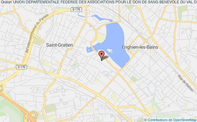 plan association Union Departementale Federee Des Associations Pour Le Don De Sang Benevole Du Val D'oise