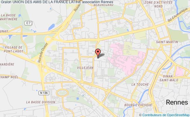 plan association Union Des Amis De La France Latine