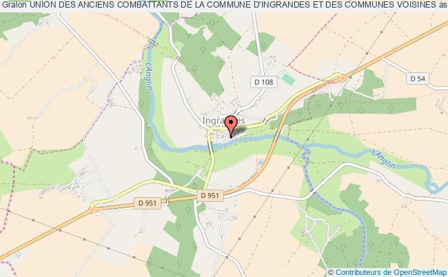 plan association Union Des Anciens Combattants De La Commune D'ingrandes Et Des Communes Voisines Ingrandes