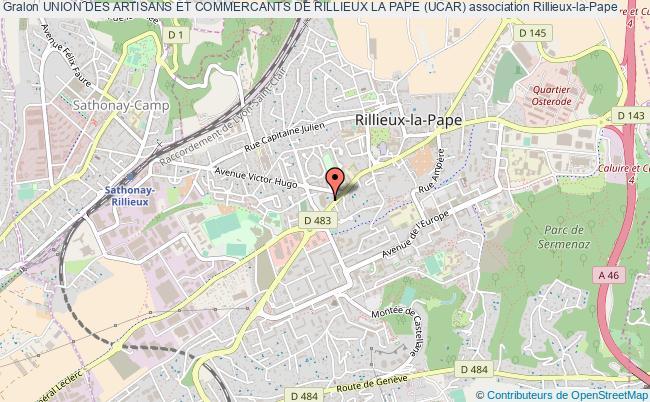 plan association Union Des Artisans Et Commercants De Rillieux La Pape (ucar)