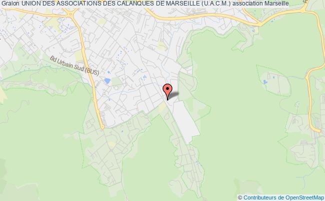 plan association Union Des Associations Des Calanques De Marseille (u.a.c.m.)