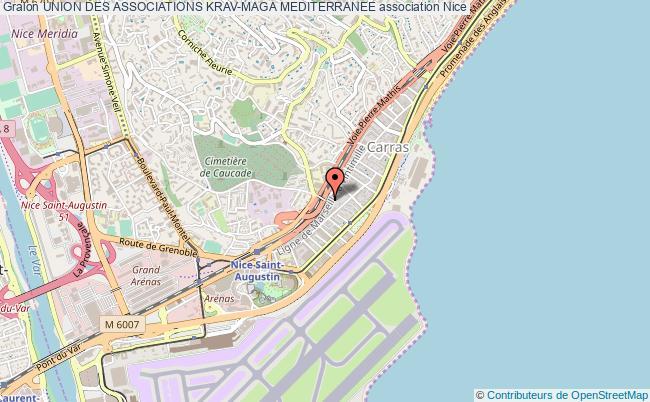 plan association Union Des Associations Krav-maga Mediterranee