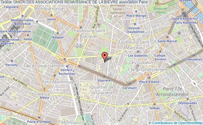 plan association Union Des Associations Renaissance De La Bievre Paris