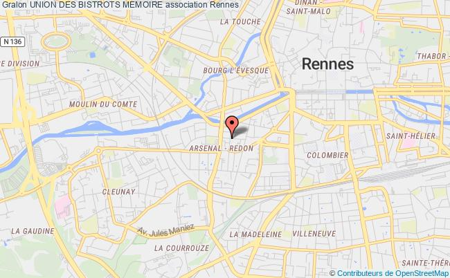 plan association Union Des Bistrot Memoire Rennes