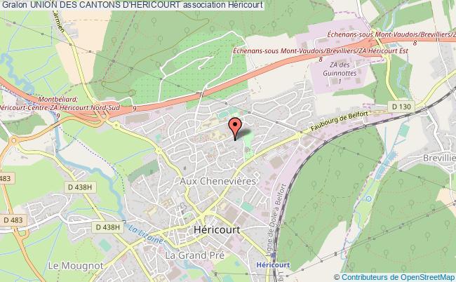 plan association Union Des Cantons D'hericourt